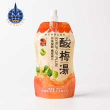 China manufacturer stand up milk drinking water bag plastic spout customized fruit juice pouch