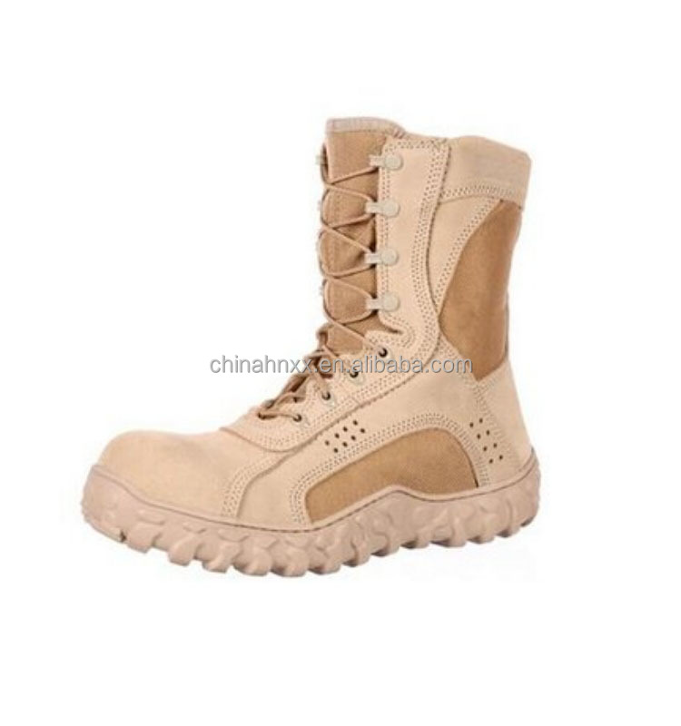 High quality leather army jungle boots for men