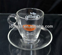glass coffee cup and saucer gift sets