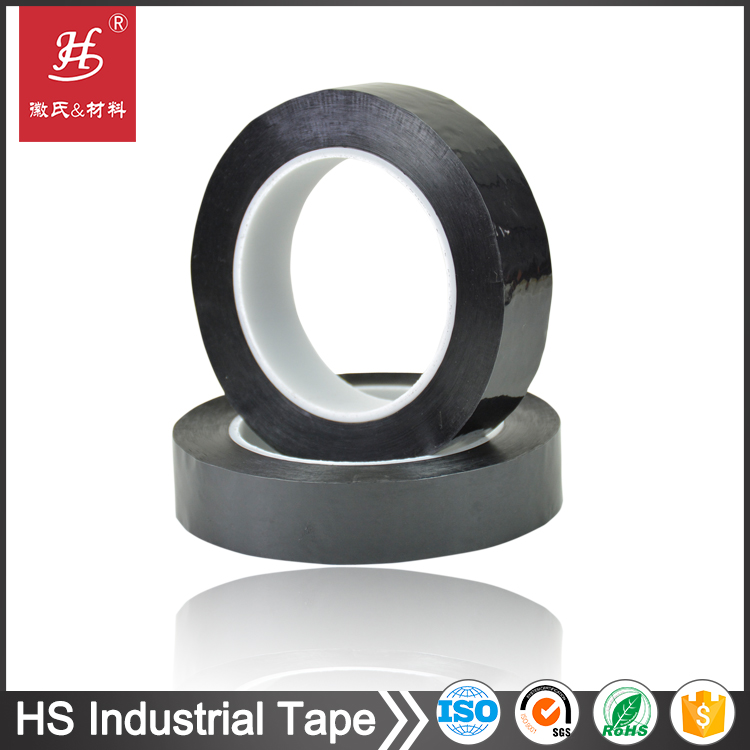 Insulation polyester film black pet adhesive tape for capacitors wrapping