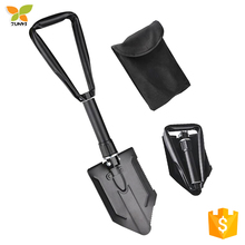 India folding shovel with plastic grip with saw