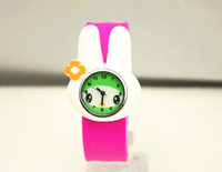 boys and girls fashion cartoon animal dials slap silicone wrist rubber band children watch