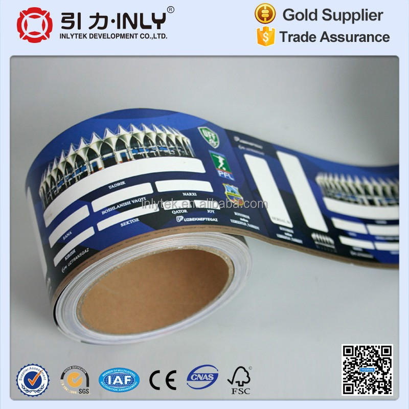 Disposable Paper RFID entrance ticket for football match