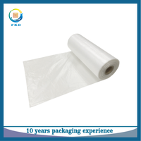 HDPE Clear disposable plastic supermarket vegetable and fruit packing produce bag
