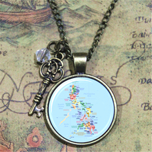 Map of The Philippines Necklace Travel Pendant necklace South East Asia Glass Photo Cabochon Necklace