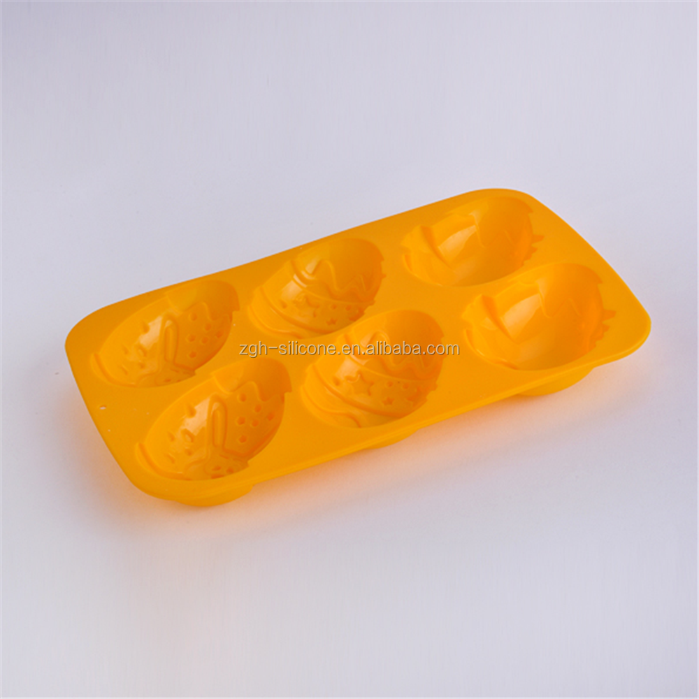 Hot selling DIY easter egg shaped cartoon silicone cake mould