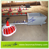 LEON automatic chicken feeding line/poultry feeders and drinkers