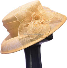 Promotion Handmade Sinamay Church Hats for Woman
