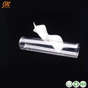 hot sale transparent plastic cylinder with helical groove for Candy packaging