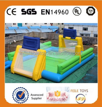 New inflatable soap soccer field for sale