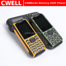 1.8 Inch Quad band GSM Dual SIM Powerful Torch feature phone with power bank function Telefonos Celulares Chinos