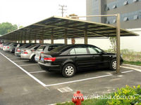 light steel parking lot, steel carport