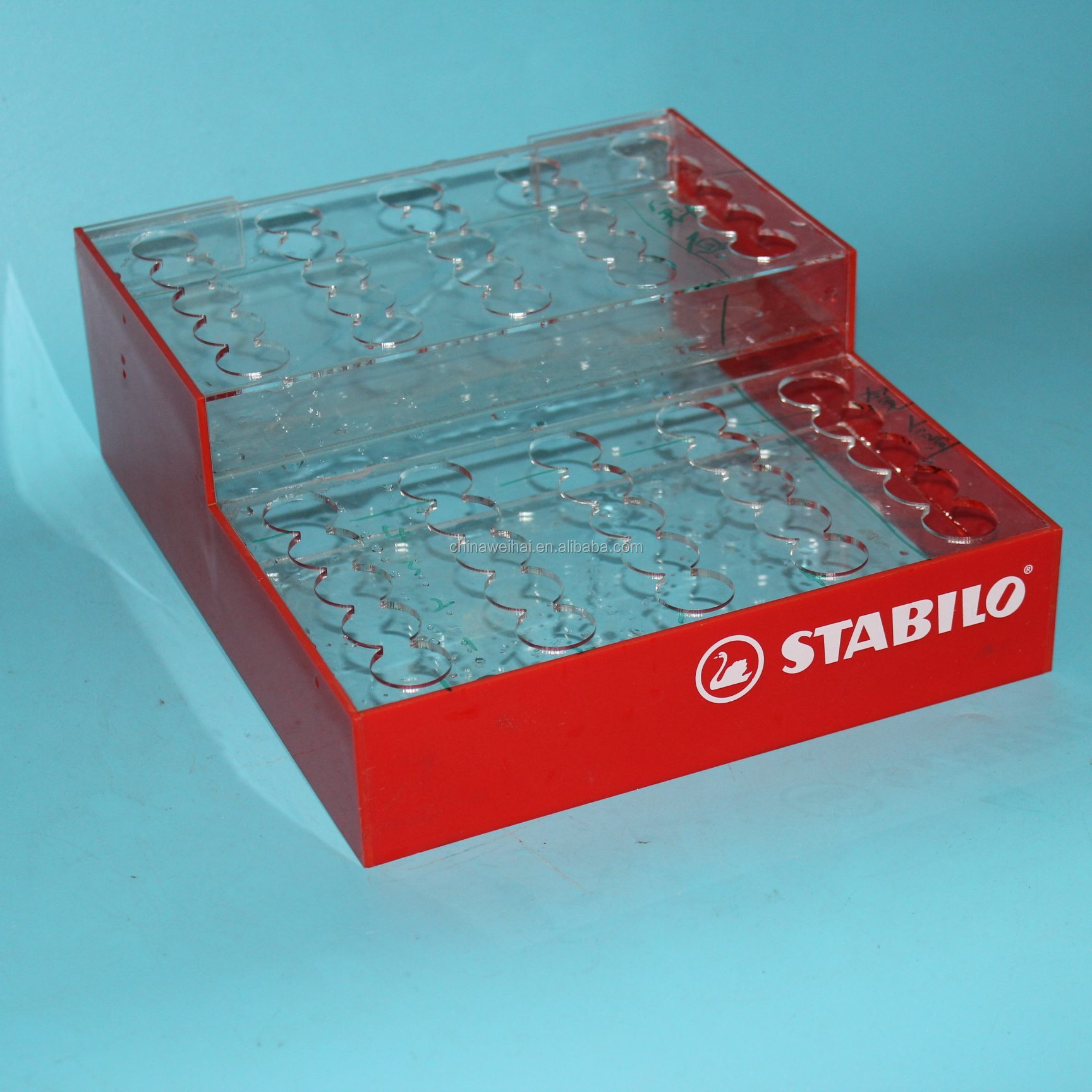 Acrylic Clear Cube Pen Stand Stationery