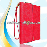 Wallet for ipad mini,leather for ipad mini sleeve case with hand strap
