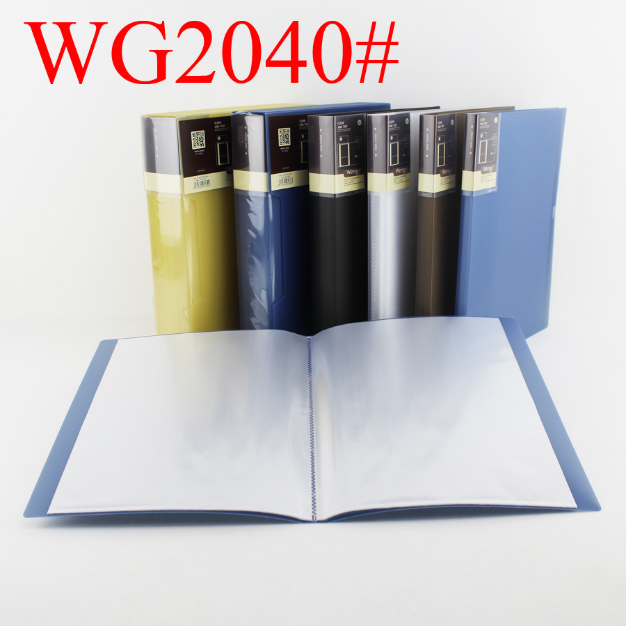 Display Book 40 Pockets Hard Cover Presentation Folder for document storage WG2040 display book