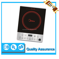 Induction cooker for hot pot and fry use with 8 stage power settings