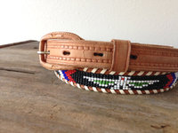 Vintage navajo aztec stretch beaded belt