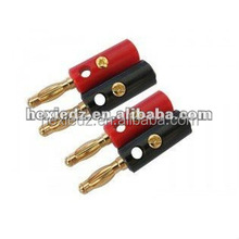red and black male 4.0mm banana plugs with screw in pairs
