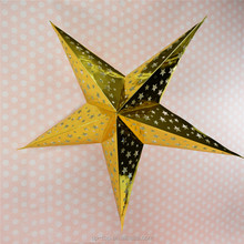 chinese new year decorations handmade Five pointed paper star lanterns for Restaurant decoration