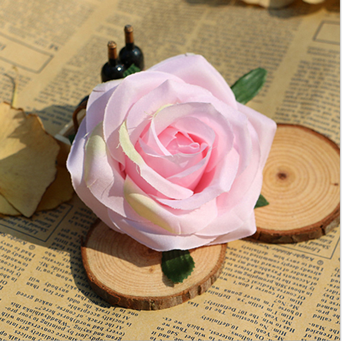 Manufacturers selling high imitation explosion models rose head artificial flowers rose flower
