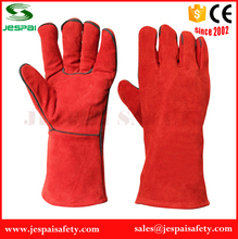 14 inches Red cow split genuine leather welding glove