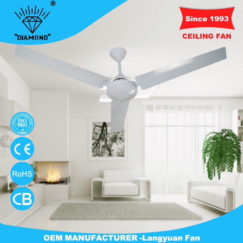 New design 60'' cheep non electric ceiling fan with low price