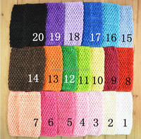 6 Inch 15cm X 15cm cute New Baby Girl Elastic Rayon Waffle Headbands Crochet Tutu Tube Tops Chest Wrap