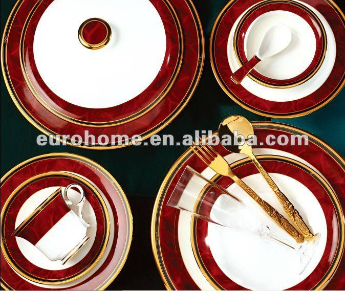 Restaurant vaisselle d coration de porcelaine ensemble de for Vaisselle de restaurant