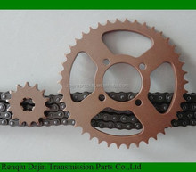 standard 1045# steel high quality motorcycle sprocket motorcycle gear sprocket set for yamahas rx100