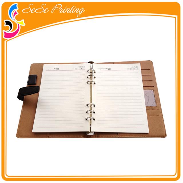 Fashional custom printing leather bound book daily