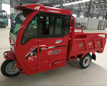 Electric Tricycle With Roof/High Quality Electric Motor cargo Tricycle with closed driver seats