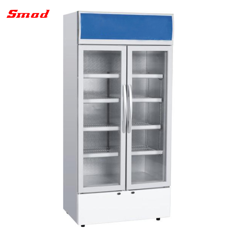 80L High Quality Portable Glass Door Mini Display Showcase With Lamp Type