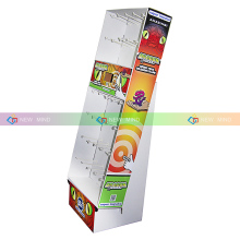 Cardboard Display With Peg Hooks, Retail Cardboard Hook Display