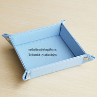 hottest folding pu leather serving tray/storage box