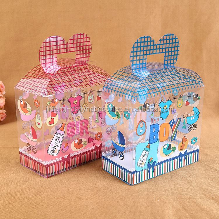 Modern style unique design plastic toy boxes pvc with different size