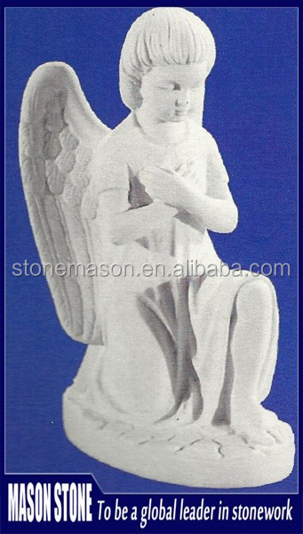 Handcarved Classic Natural Stone Angel Grave Statues