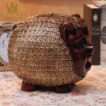 Hot Sale Cheap Pig Decorative Large Wholesale Gift and Crafts Piggy Coin Bank Copper India