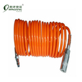Factory Sale Spring Coil Air Hose PU Tube With English-style Quick Coupler