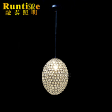 Modern Pendant Crystal Lamp Hotel Crystal Ball Pendant Lamp RT1557-3