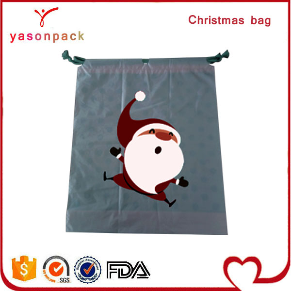 CUSTOM MADE LOVELY DECORATIVE CHRISTM AS GIFTS PACKING CARTOON DRAWSTRING BAG