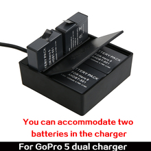 For Gopro Hero 5 Dual Charger, Charger for Go pro Hero5 Black Battery