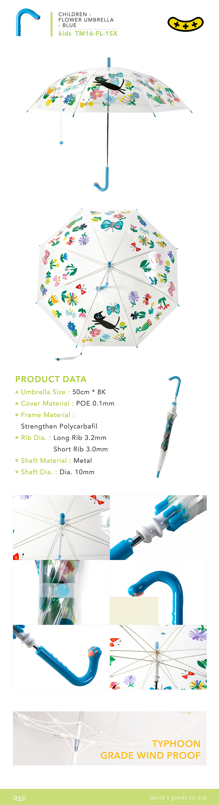 hot selling Durable kids safety plastic umbrella best quality Guang Dong factory