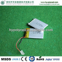 3.7v 650mah small lithium polymer battery
