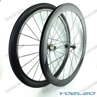 2015 Carbon Clincher 50mm Fat Bike Wheels With 25mm WIde, Novatec Hubs 3K/12K/UD Weave Glossy/Matte