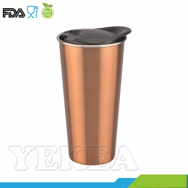 500 ml spray paint double wall stainless steel cup with lid
