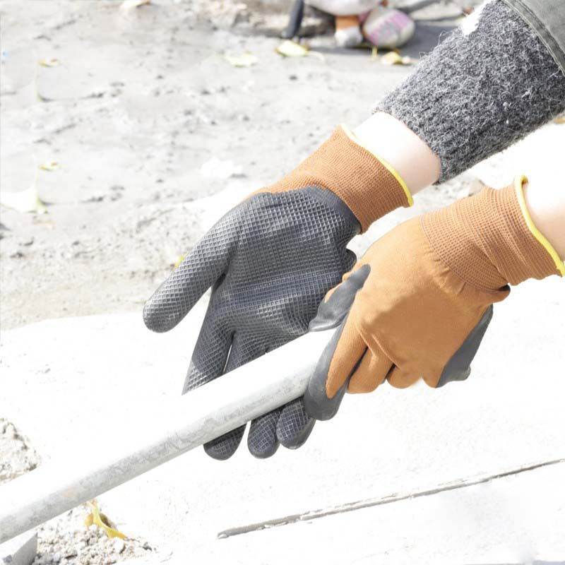 NMSAFETY good grip emboss on palm foam nitrile working gloves