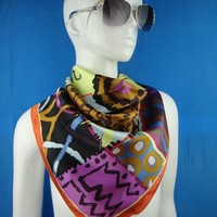 OEM Print Silk Scarf For Women