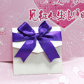2017with big bowknot ribbon festival celebratiom wedding invitation card