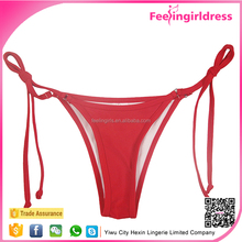 Free Sample Red Sidetie Classy G-string Ladies Cheeky Bikini Bottom