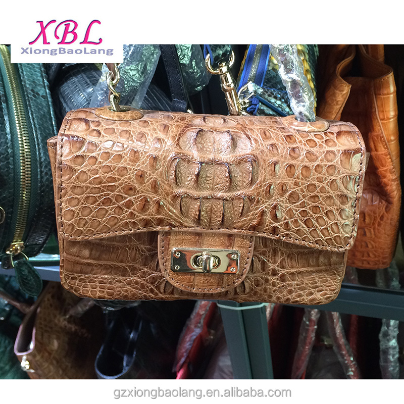 XBL 100% real crocodile handbags Top quality Leather bags for women